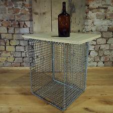 Alter Industrieller Metallkorb / Drahtkorb mit Griffe um 1950/60 - kleiner Tisch