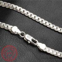 925 Sterling Silber Halskette 5mm 50cm Männer Schlangenkette Schmuck Necklace.