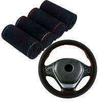 DIY Auto Car Steering Wheel Microfiber Suede Cover Hand 38cm Sewing Access New