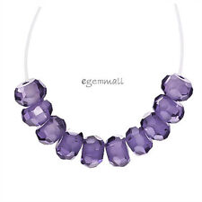 25 Cubic Zirconia Rondelle Beads 4mm Amethyst #64225