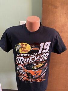 Martin Truex Jr. #19 NASCAR 2021 Men's 2-Sided Black Slingshot Shirt Large