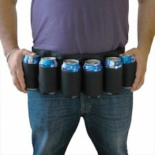 6 Pack Beer Coke Can Waist Belt Holder Carrier Home Rave Party Outdoor Hiking