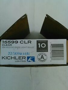 Kichler Lighting Clear 18W Wedge Landscape 12V Bulb-15599CLR NEW-Box of 10