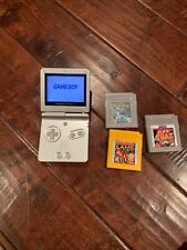 Game Boy Advance SP AGS 001 SilverWith Pokemon Silver Version Game-Working Plus