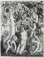 Raphael DROUART gravure Lithographie Allégorie Du Printemps