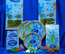 American Idol Party Set # 10 Plates Napkins Tablecover Balloons Cupcake rings