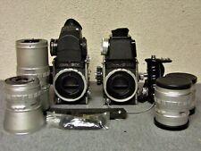 2 Kowa/Six medium format 6X6 Slr film cameras Lenses Exposure finders Hand Grip