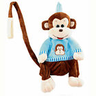 Kids Toddler Plush Travel Doll Backpack Safety Anti-lost Harness w Leash NEW