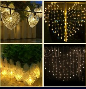 Heart-shaped fairy tale string curtain lights Valentine's Day Christmas Party