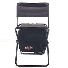 Harley-Davidson Genuine Black Bar & Shield folding travel cooler chair, NEW