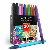 ARTEZA Retractable Gel Ink Pens, Assorted Colors, 20 Pack