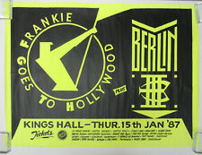 FRANKIE GOES TO HOLLYWOOD Kings Hall BELFAST 1987 CONCERT POSTER VG+ Berlin NUNN