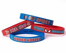 Marvel Ultimate Spiderman Rubber Bracelets Wristband Birthday Party Favors 4 Ct.