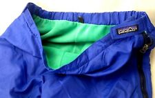 Vntg Patagonia Mens XL Ski Winter Pants Full Zip Blue Nylon Green Capilene 204-7