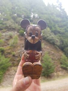 Mickey Mouse Bank Walt Disney Old Cast Iron,not a J.E.Stevens but really Unique!