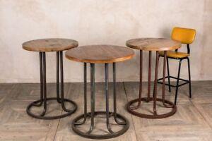 BAR TABLES INDUSTRIAL VINTAGE RETRO BAR PUB RESTAURANT TABLES ROUND POSEUR TABLE