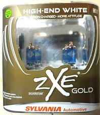 SYLVANIA H11 SilverStar zXe GOLD Headlight Bulbs, Pack of 2, SEALED, L@@K!!! NEW