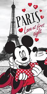 Disney´s Minnie & Mickey Mouse in Paris Badetuch 70x140 Handtuch Strandlaken