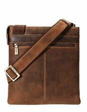 Visconti 16111 Tan Leather Messenger Bag Shoulder Crossbody for iPad Tablet