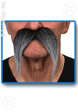 Moustache longue poivre et sel postiche [26430i 6868] carnaval deguisement fetes