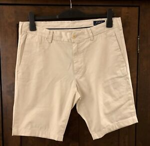 Men's Ralph Lauren Beige 100% Chino Shorts- 34 Waist RRP £110.00