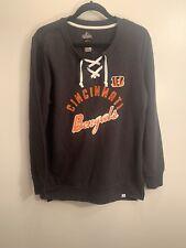 Cincinnati Bengals Majestic Sweatshirt Women's Size L Official NFL Apparel NWT
