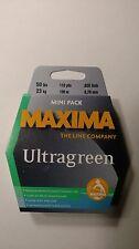 maxima ultragreen mini pack 50# 110yds. New Unopened