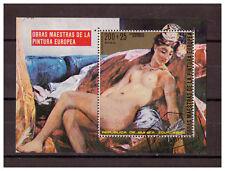 Äquatorial-guinea, Aktgemälde European Painter Minr 274 Block 74, 1973 Used