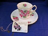 ROYAL AVON TEA CUP AND SAUCER - FLOWERS OF SHAKESPEARE'S DAY - MADE IN ENGLAND