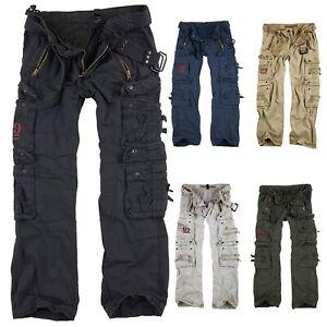 SURPLUS Vintage Royal Traveler Trousers Outdoor Cargo Hose US Army Militär Baggy