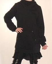 ROBE Tunique noir vieilli vintage style sweat long volants capuche LIU JO 8 ANS