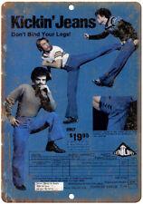 "Kickin Jeans Karate Century Martial Arts 10"" x 7"" Reproduction Metal Sign X66"