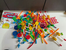 lot of 193 piece tinkertoy plastic multi color classic building toy