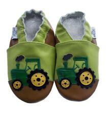 Schuhe Leder Puschen Traktor Lauflernschuhe Gr 17 18 Echtleder ca.0- 6Monate NEU