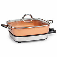 "Copper Chef 12"" Removable Electric Skillet Pan - As Seen On TV"