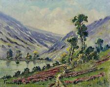 huile sur toile représentant un paysage de la Creuse signée Forestier crozant