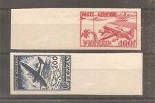 TIMBRE FEZZAN LIBYE FRANKREICH KOLONIE 1948 PA N°4/5 NEUF** MNH IMPERF