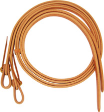 Schutz Brothers 8' Harness Leather Split Reins With Waterloops 70638Hl