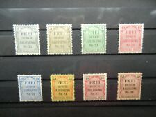 Deutsches Reich   Dienstmarken Mi.Nr. 1 - 8  Ungestempelt Falz
