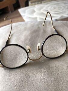 Vintage Algha 20 Gold Plated Jam Jar Bottom Thick Lens Glasses Spectacles