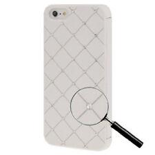 Bling Diamond Tasche zum Aufklappen für Apple  iPhone 5 5S SE  in weiß Case Hüll