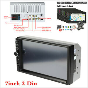 2DIN 7in HD  Touch Screen Car Stereo Radio MP5 Player Bluetooth With Rear Camera