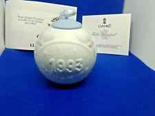 Lladro Bola Navidad 1993 Christmas Ornament Collection #16009 in Box, Mint!