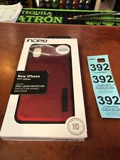 Incipio IPH-1629-RBK Apple iPhone X DualPro Case Iridescent Red/Black Metallic