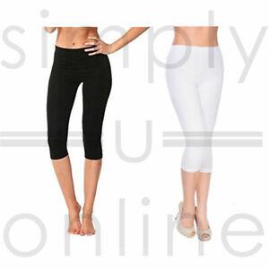 3/4 Length Cotton Lycra Stretch Short Cropped Leggings Summer (UK 6-12)