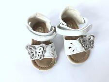 Genuine Kids Oshkosh Baby Girls Sz 3 White Sandals Shoes Glitter Butterfly