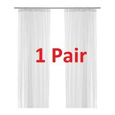 1 Pair of IKEA LILL Window Door Sheer Net Curtains 280 (W) x 250 (L) cm in White