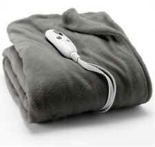 NEW Biddeford Gray MICRO PLUSH Electric Heated Throw Blanket