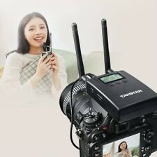 LCD Wireless Recording Microphone Mic Phone For Smartphone 30 Meters UHF 3.5mm