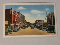 Vintage Postcard - Maine Street - Buildings & Cars Waterville Maine ME #746